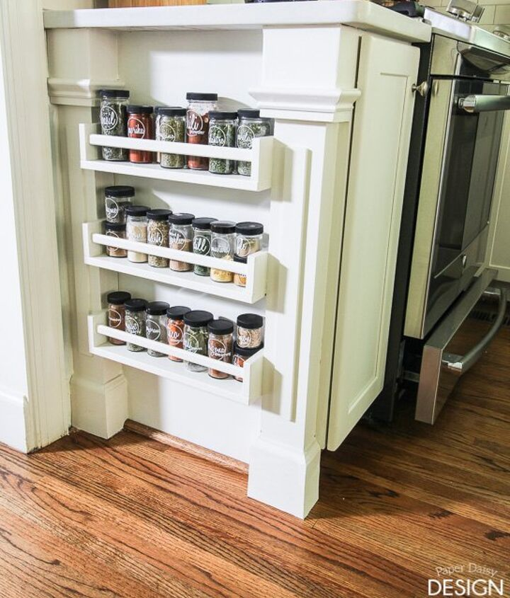 s 19 ways to organize your kitchen this new years, Easy Built in Spice Rack Bekvam Ikea Hack