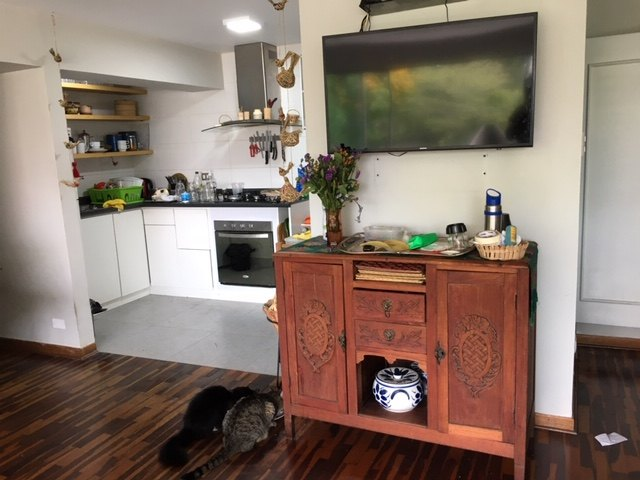 q what to do a simple vintage kitchen cabinet
