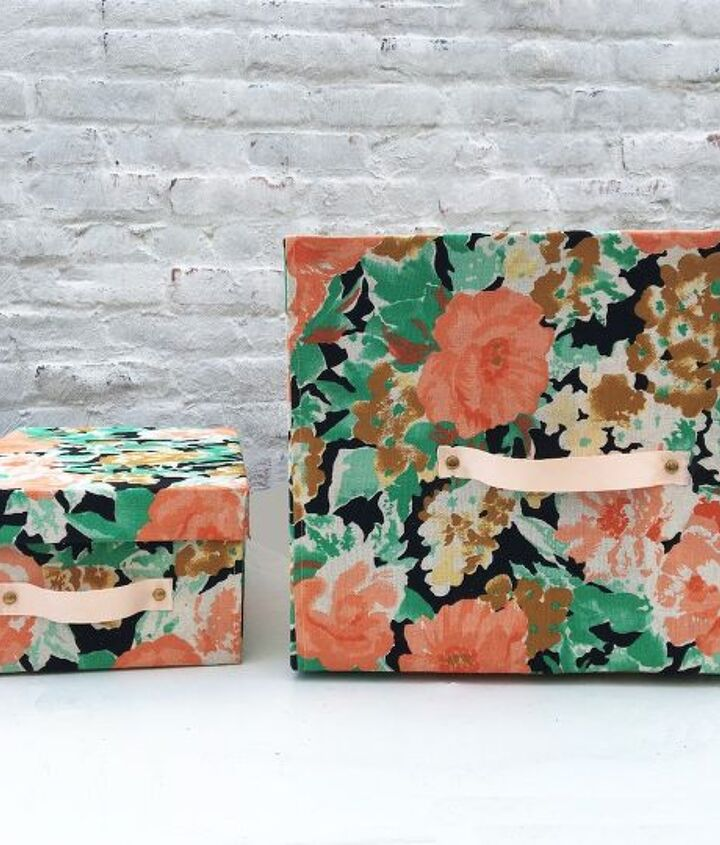 s 8 ways to turn cardboard boxes into beautiful storage for your home, Cardboard Boxes Turned Storage Bins