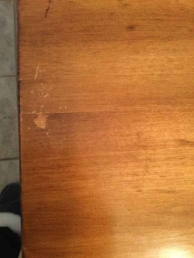 q how to repair a flaw in my dining table