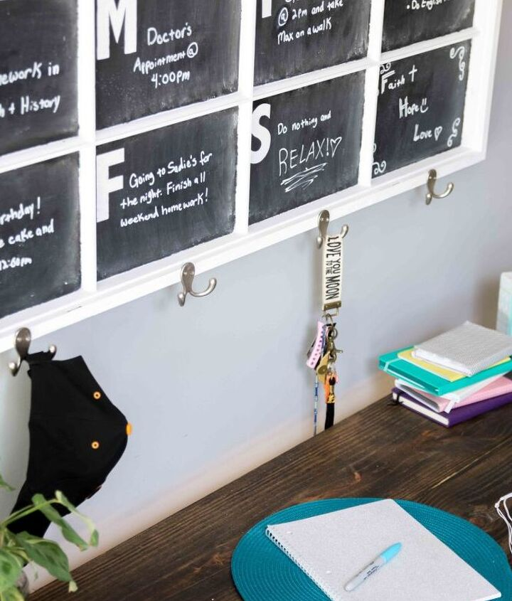 s 15 command centers to ring in the new year, DIY Chalkboard Calendar Window