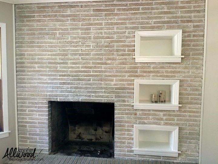 Painted Brick Fireplace (Jennifer)