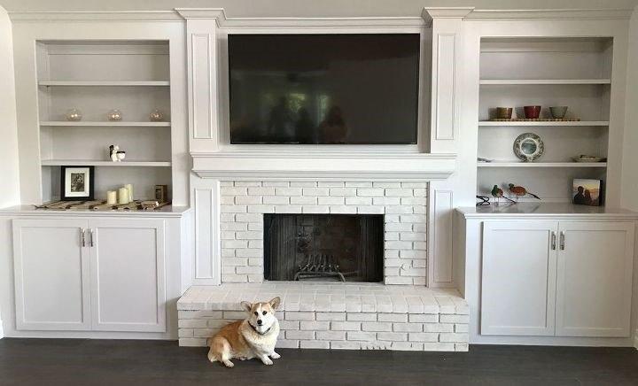 White Brick Fireplace (Craftsman Finishes)