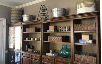 From Blah Bookcase to Basket Bonanza! Add a Shelf to Your Bookcase Top