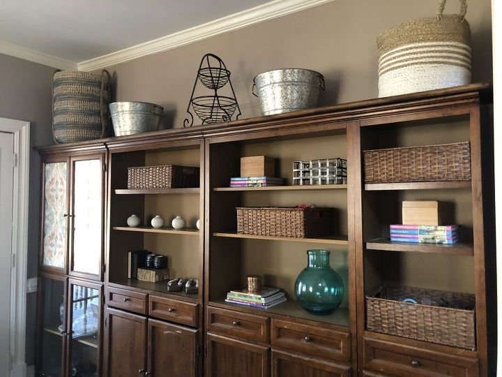from blah bookcase to basket bonanza add a shelf to your bookcase top