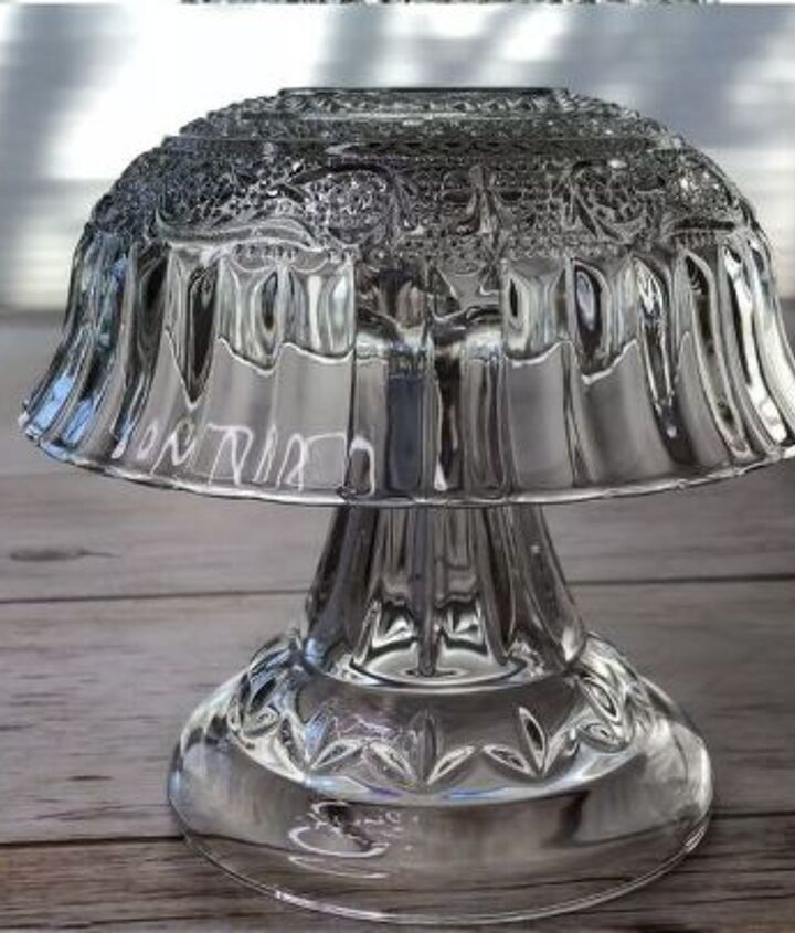 glass dish lamp
