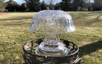 Glass Dish Lamp