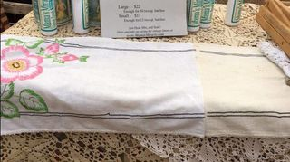 q remove stains from vintage tablecloth