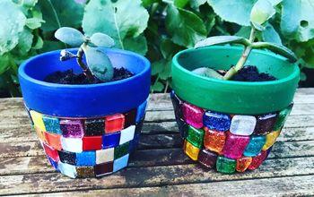 cute miniature mosaic pots for your favorite plants, Cute miniature mosaic plant pots