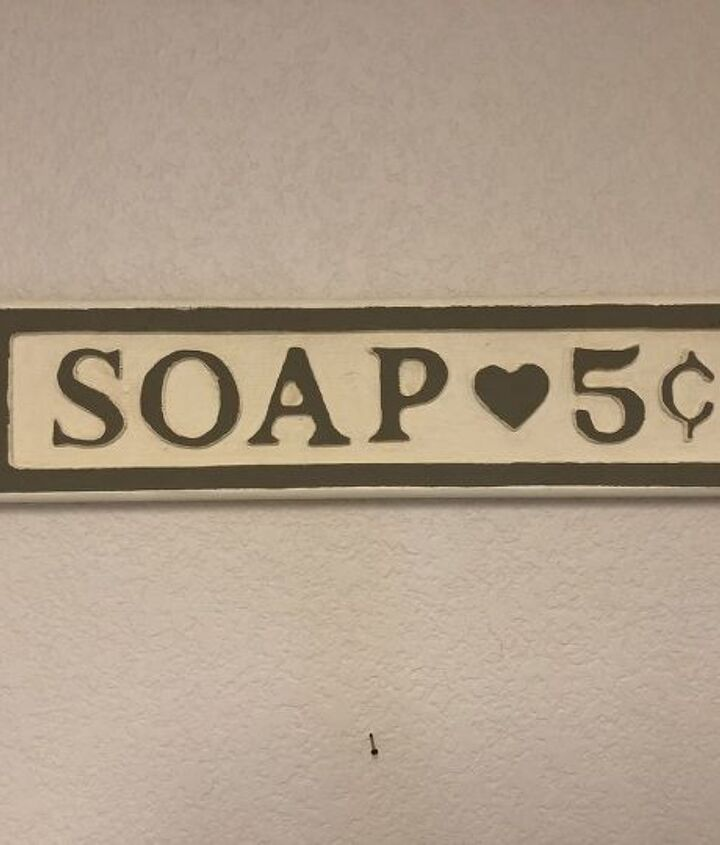 thrift store sign upcycle