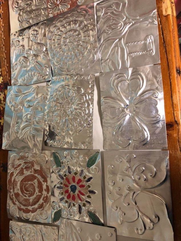 q how do i attach my homemade tin tiles to backspash