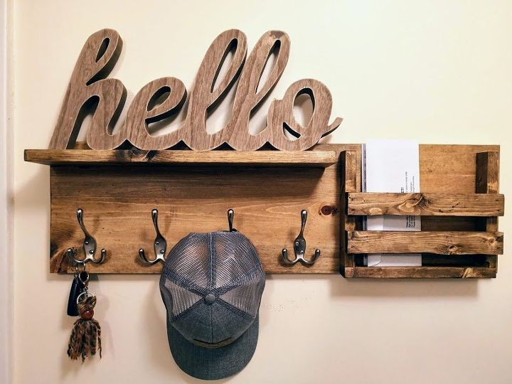 diy entry way coat rack