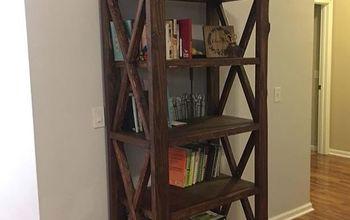 Rustic X Farmhouse Bookshelf