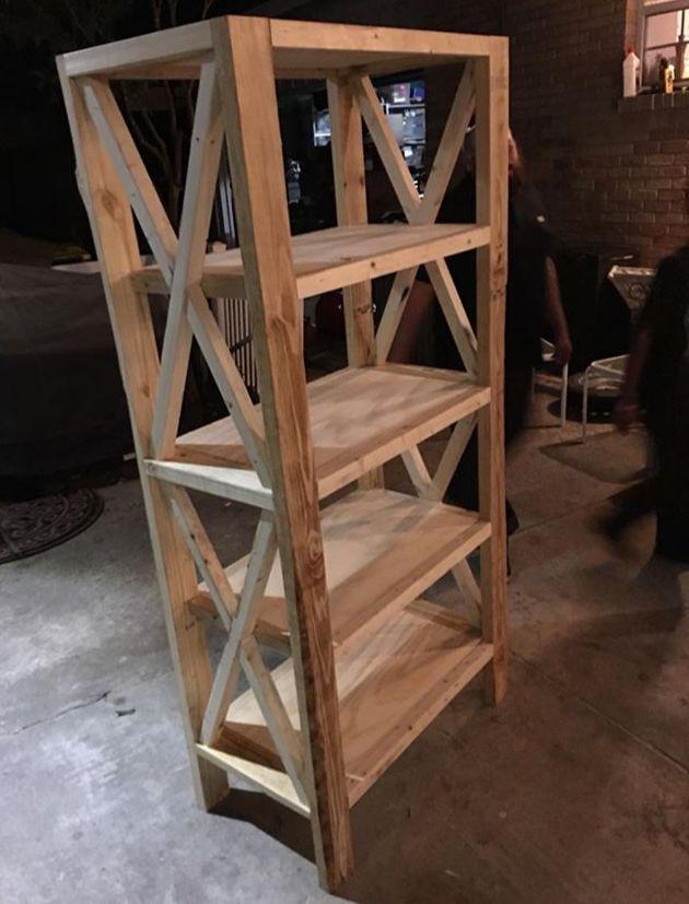 Build A Diy Rustic Farmhouse Bookshelf Hometalk