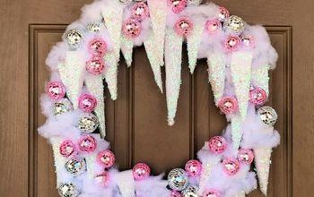 icy disco ball wreath