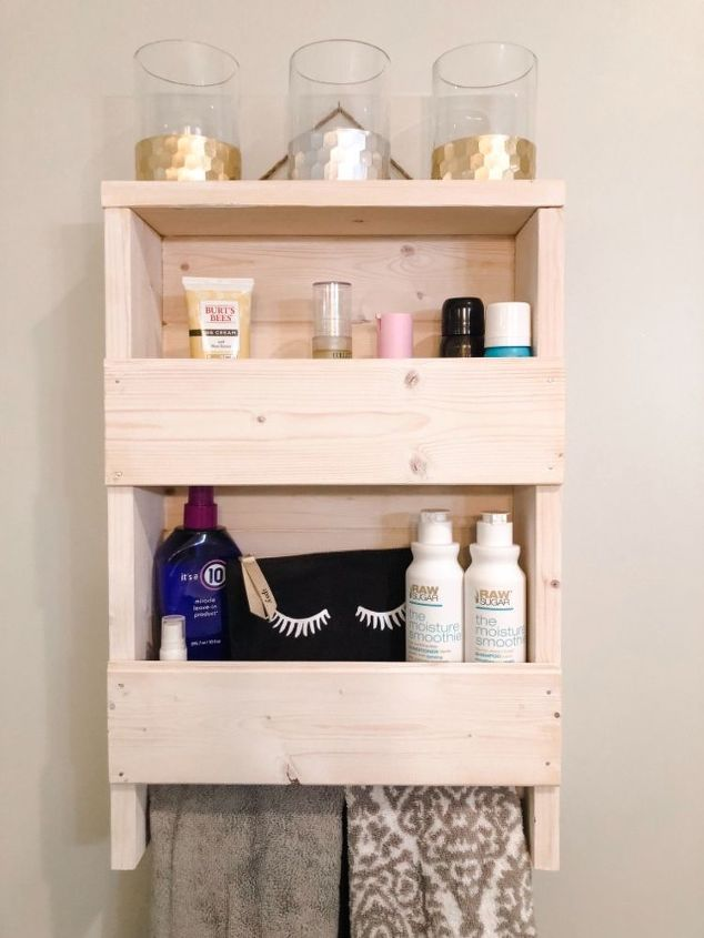 a rustic wood shelf from leftovers