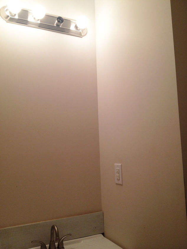 View of the light from the doorway.
