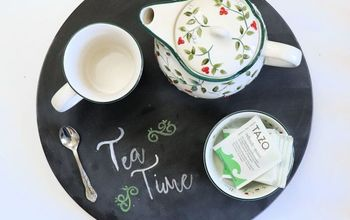 turn a lazy susan into a beautiful serving tray