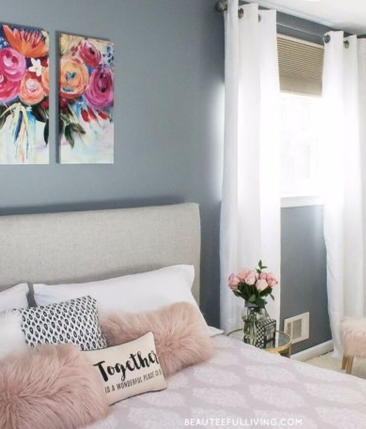 s 30 more popular ways to transform a room for 2019, Bedroom Makeover Plain Jane to Glam