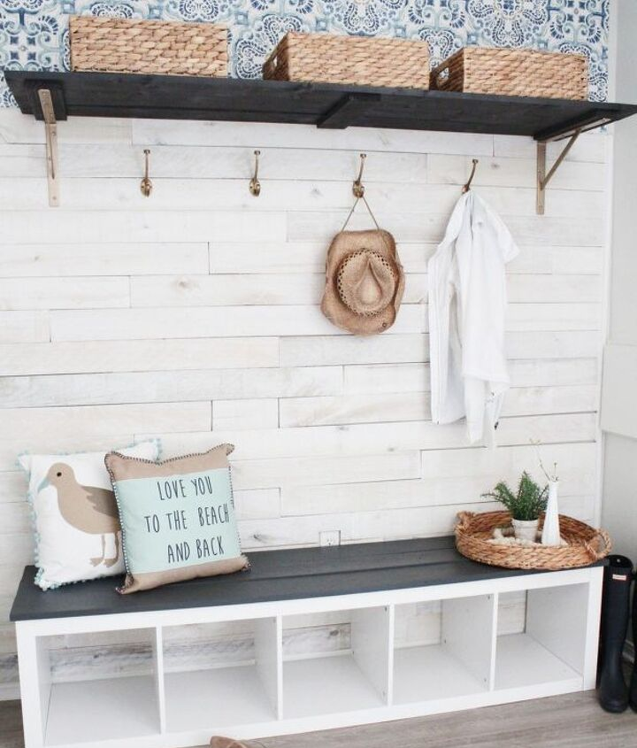 s 30 more popular ways to transform a room for 2019, DIY Beach Cottage Mudroom