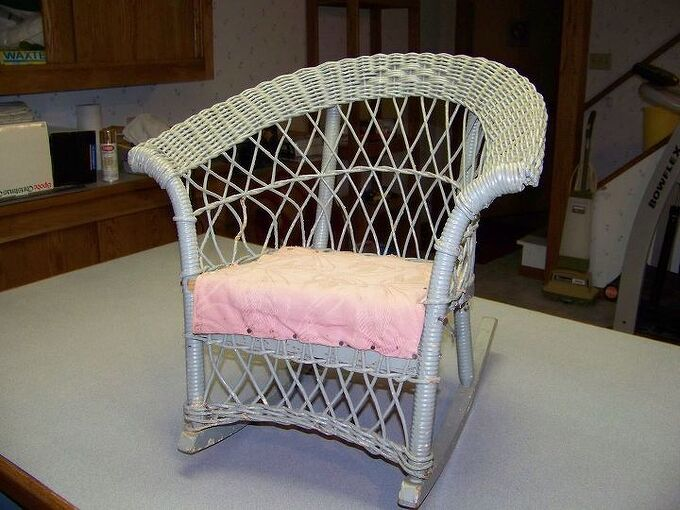 q how can i restore an old wicker rocking chair