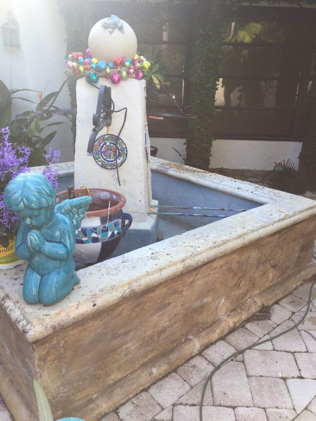 q how do i remake a courtyard fountain that is worn and falling apart