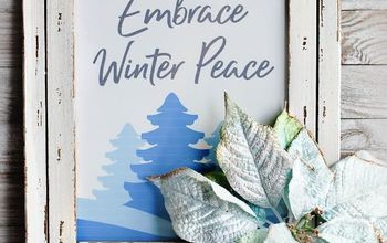 "Free Printable Winter Wall Art For Your Home - ""Embrace Winter Peace"""