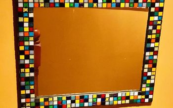 amazing mirror makeover transformed with colorful mosaic, Mirror Makeover
