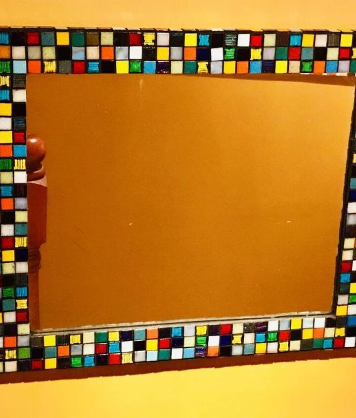 Mosaic Mirror makeover