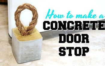 how to make a concrete doorstop
