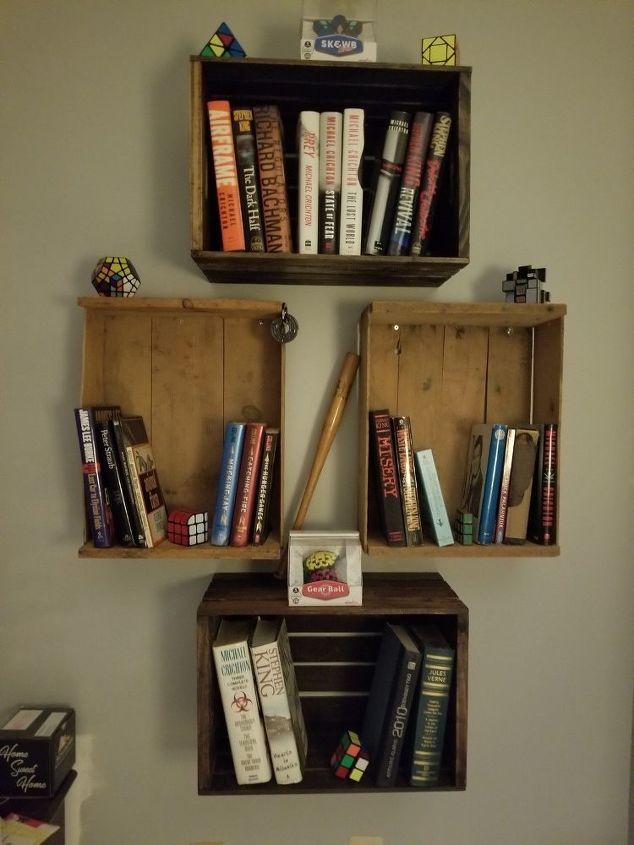 floating crate bookshelf
