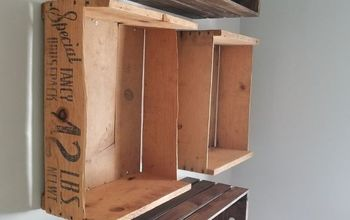 Floating Crate Bookshelf