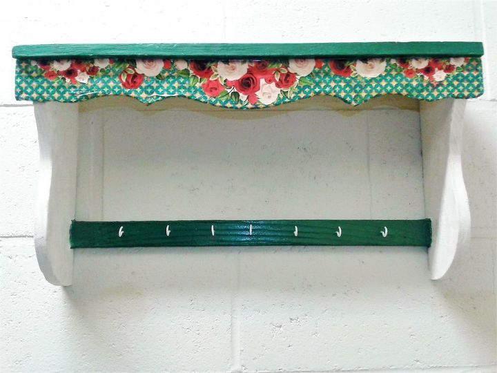 old kitchen shelf to ai shabby chic wall shelf with hooks