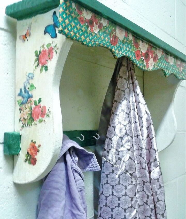 old kitchen shelf to ai shabby chic wall shelf with hooks