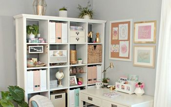 Glam Office Makeover - Wasted Corner Space to Functional Glam Office!