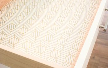Use Wallpaper to Line Your Drawers