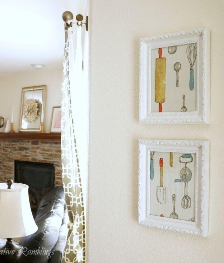 easy dish towel kitchen art frame wall decor