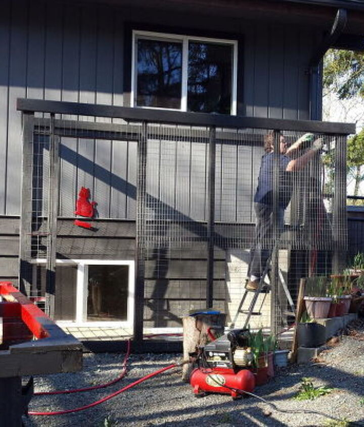 Adding wire mesh