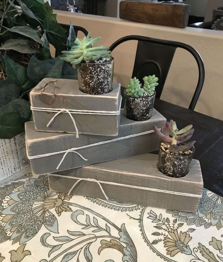 farmhouse succulent or candle holders