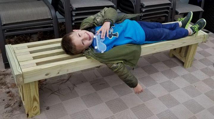 How To Build An Outdoor 2x4 Bench Diy Hometalk