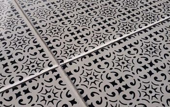 Dramatic Patio Stenciled Floor