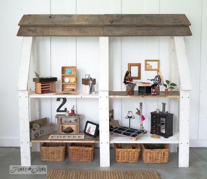 Upcycled Wood Dollhouse (Funky Junk Interiors - Donna)