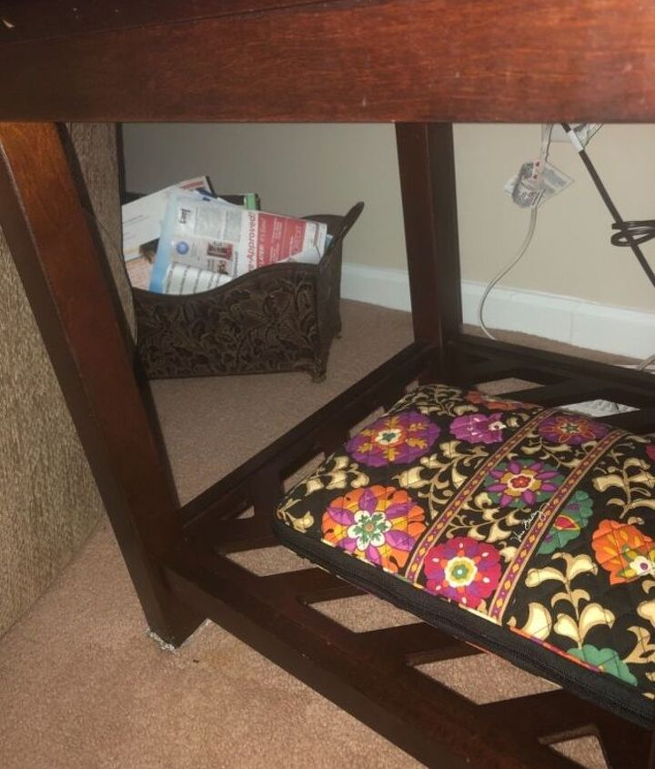 q i have 2 end tables that my grand kids won t stay out from under