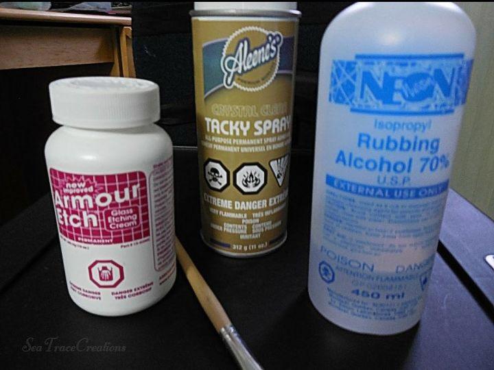 Etching Cream, Spray Glue & Rubbing Alcohol