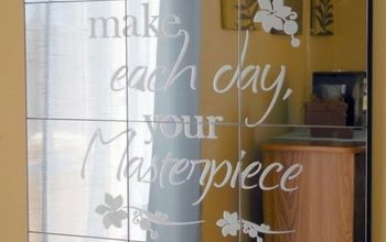 Dollar Store Etched Mirror