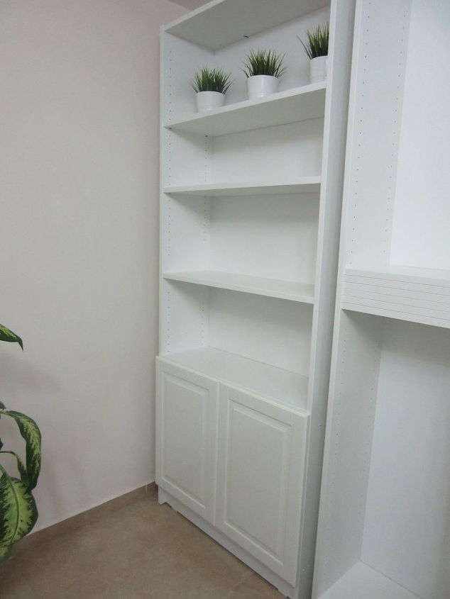 upgraded ikea billy bookcase