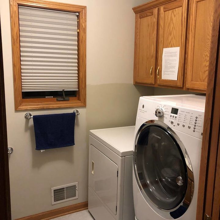 q how to make the best use of space in a half bath laundry room combo