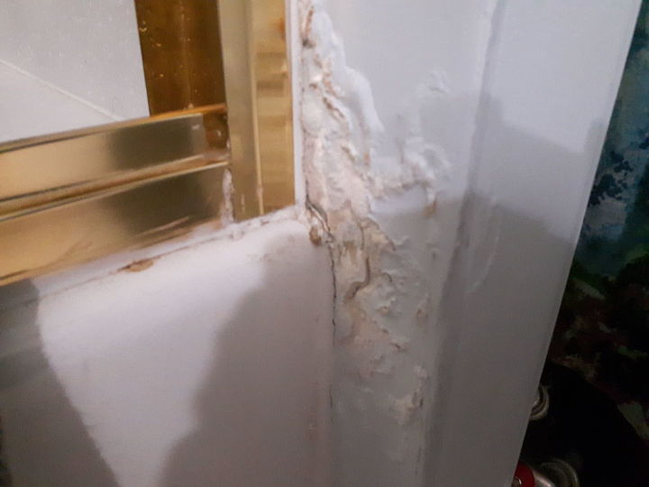 q damaged wall from shower
