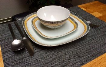 From Boring White to Colourful Tableware in Just a Few Stripes