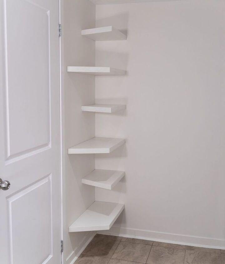 White Floating Corner Shelves (Zac Builds)